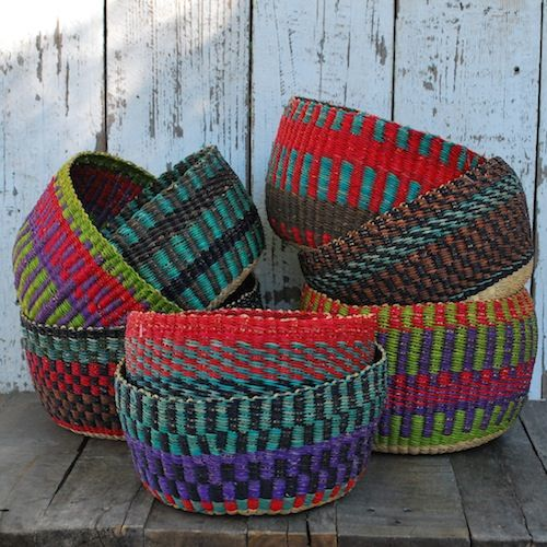 African Baskets: African Baskets. I'd Love These For Holding Blankets On