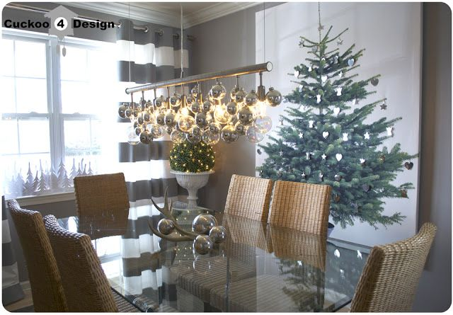 DIY Ikea Christmas Tree Canvas - great solution for small spaces with now room for large tree
