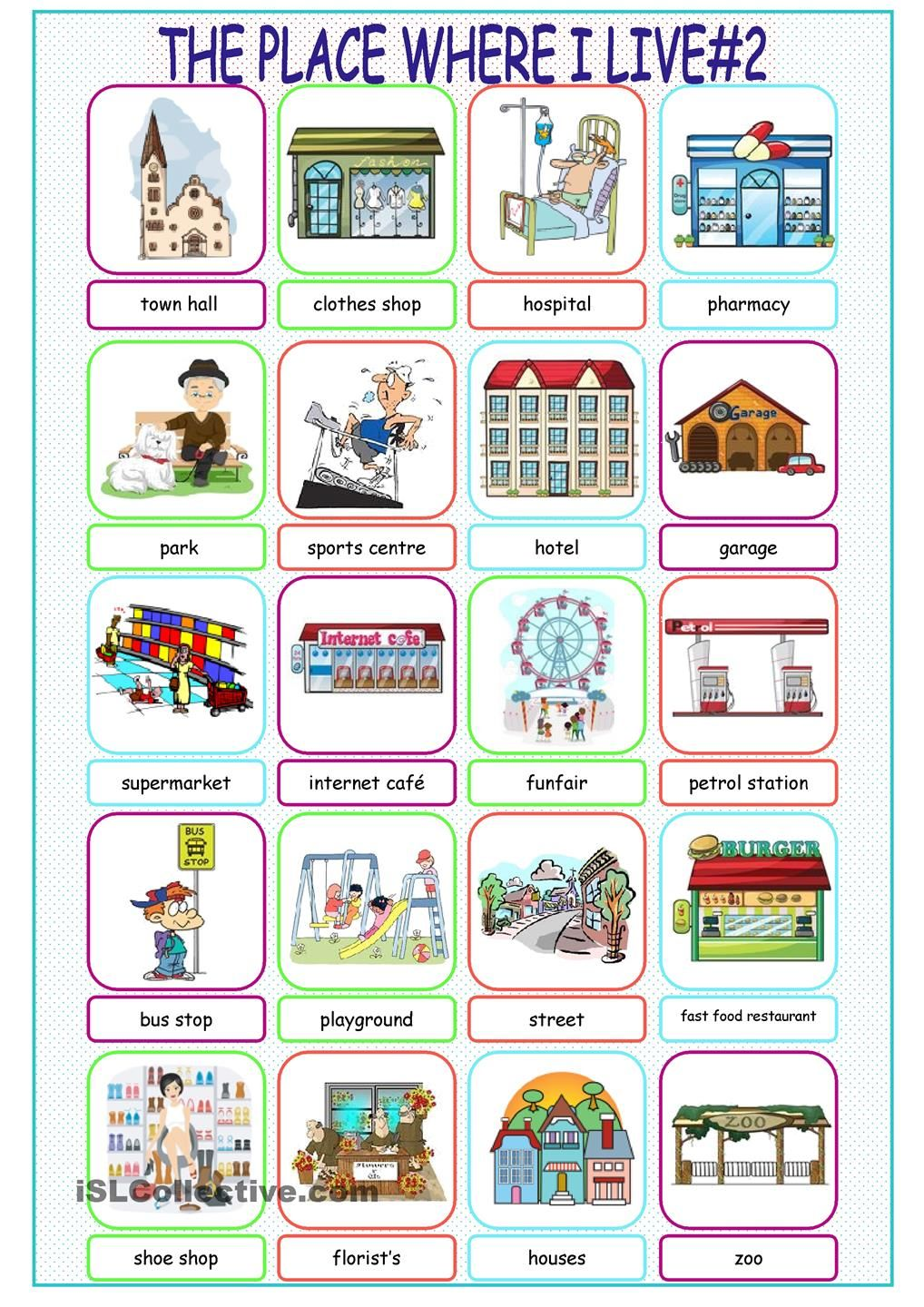 The Place Where I Live Picture Dictionary2 Lingua