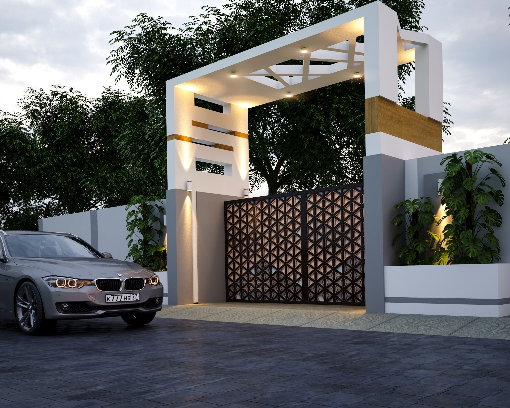 Gate Entry By Egmdesigns House Gate Design Front Gate Design Entrance Gates Design