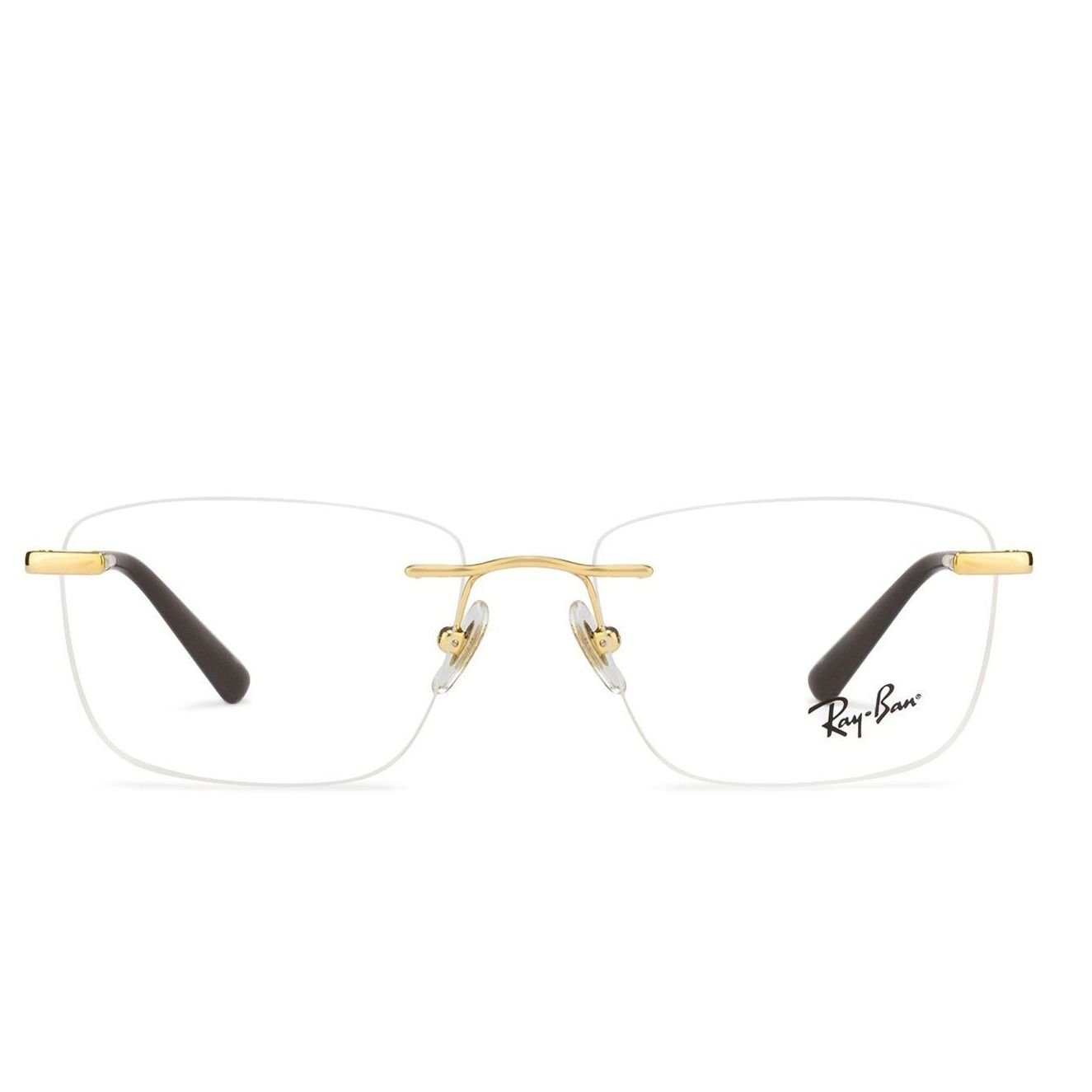 4264b8ce77a Ray-Ban RX6390-02500 Golden Frame With Golden Brown Temple Unisex Square  Rimless Eyeglasses  RayBan  Eyeglasses  LatestEyeglasses  BestPrice   Onlineshopping ...