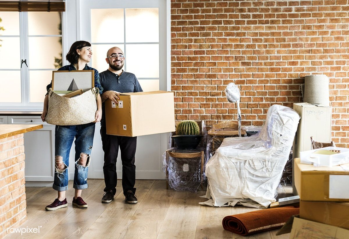 Download Premium Photo Of Couple Moving Into New House 386917