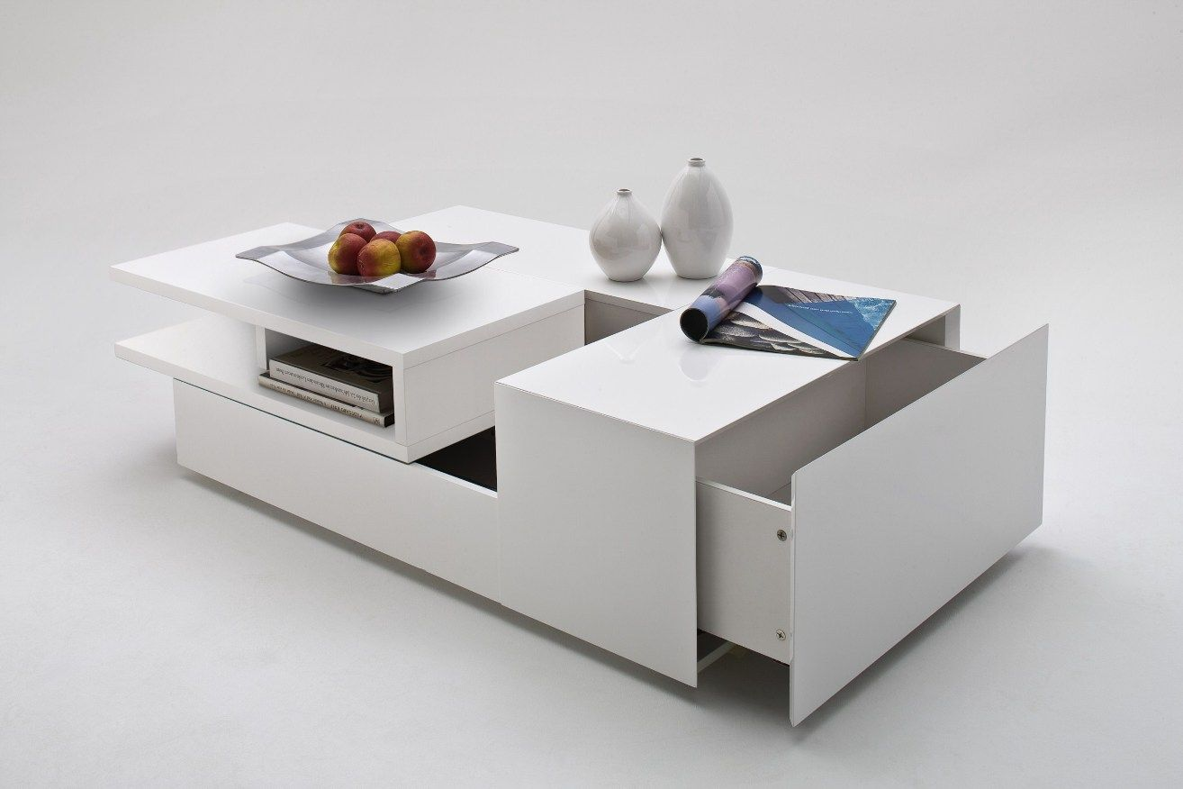 Best Davos Coffee Table High Gloss White With Multi Storage 400 x 300