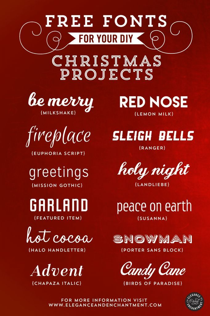Free Fonts For Christmas Diy Projects  Fonts December Daily And