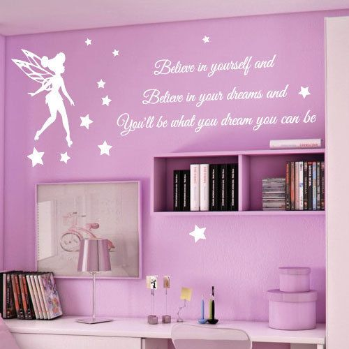 Tinkerbell Stars Children Nursery Wall Stickers Quotes Wall Decals Wall Arts Part 33