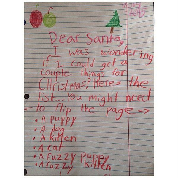 26 Demanding Kids Who Didn't F*ck Around With Their Letter to Santa (Pics) - Radass.com