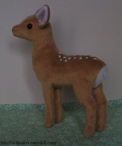 Deer pattern! Try sewing ears into head seam though. | Things I want ...
