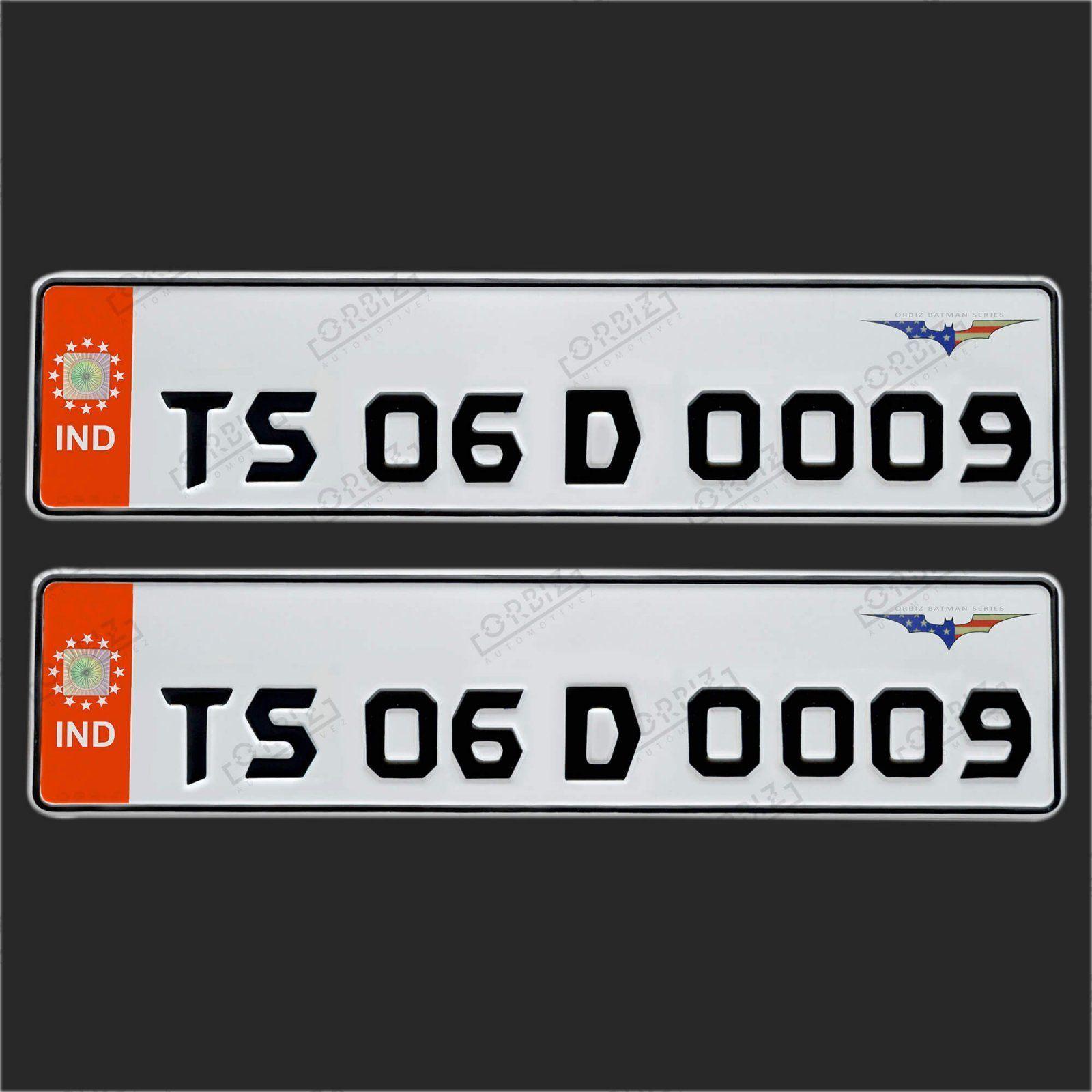 Orbiz Batman Number Plate Design Number Plate Online Design