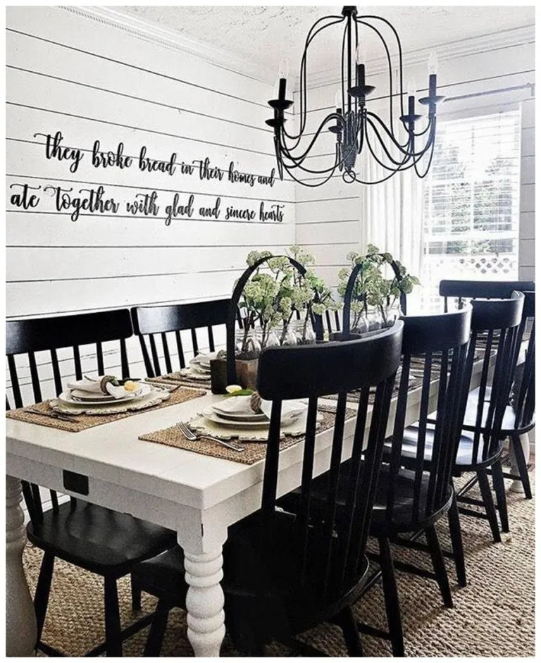 Casual Dining Room Wall Decor: 55+ Awesome Country Dining Room Table Decor Ideas 51