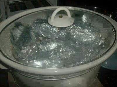 Crock steak meal