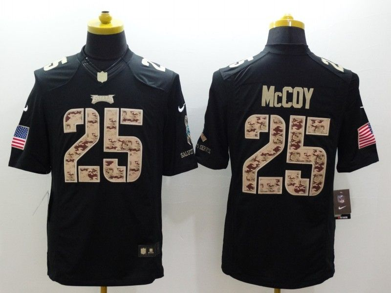 a841cdbf1 ... Cheap Wholesale Mens Philadelphia Eagles 25 LeSean McCoy Nike Black  Salute To Service Jersey Size ...