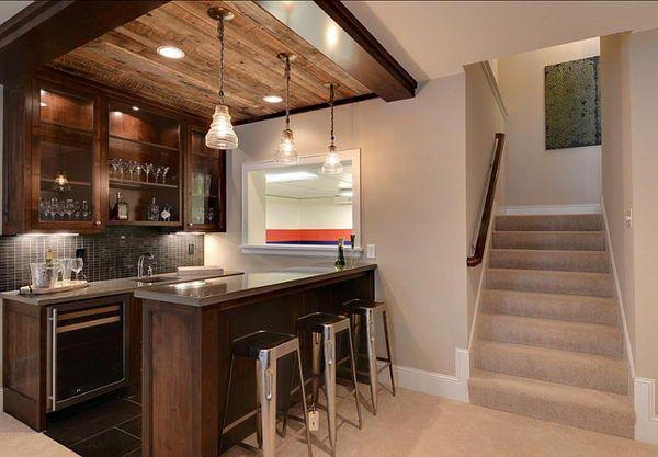 bar sous sol murale bois jusqu 39 au plafond luminaire pot masson sous sol pinterest sous. Black Bedroom Furniture Sets. Home Design Ideas