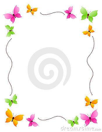 Papillon Frontière Frame Bordes Y Marcos Hojas De