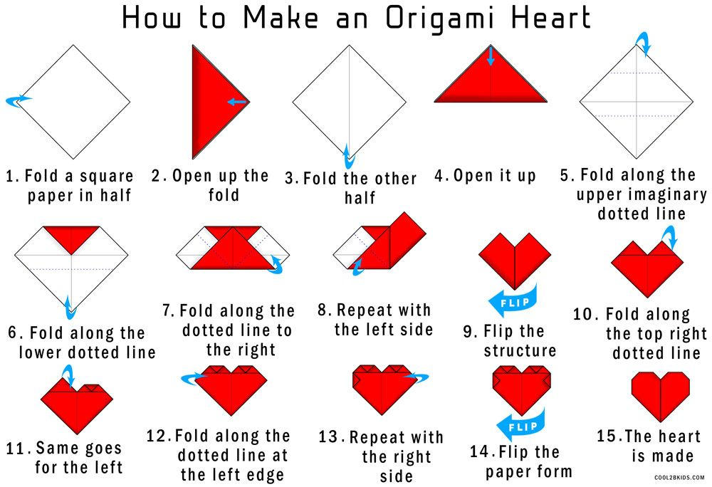 How to Make an Origami Heart | 684x1000