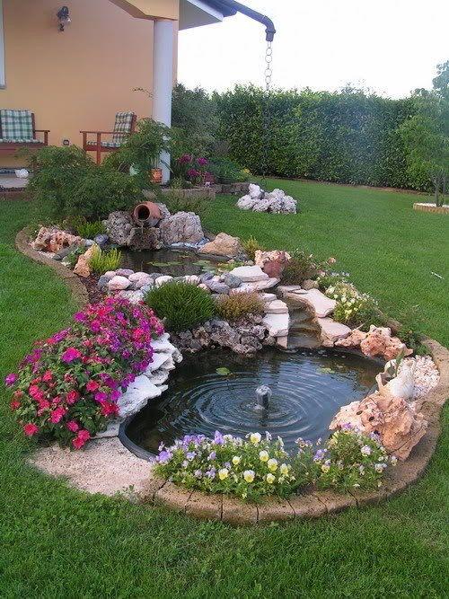 Pin de JuGa en Garten idee Pinterest Fuentes, Jardín y Jardines - estanques artificiales