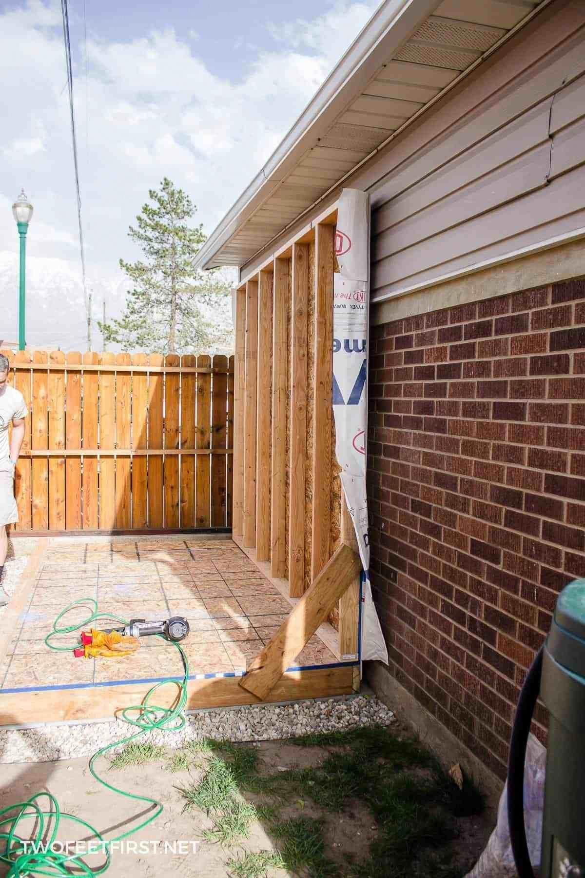 Build shed walls plus floor building a shed build your