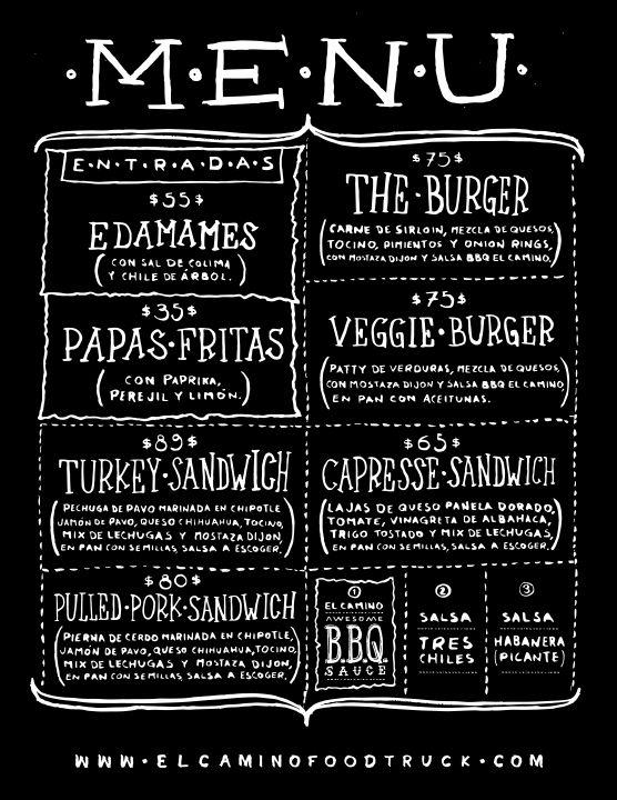 EL CAMINO – FOOD TRUCK   menu ideas   Pinterest   Food truck and ...