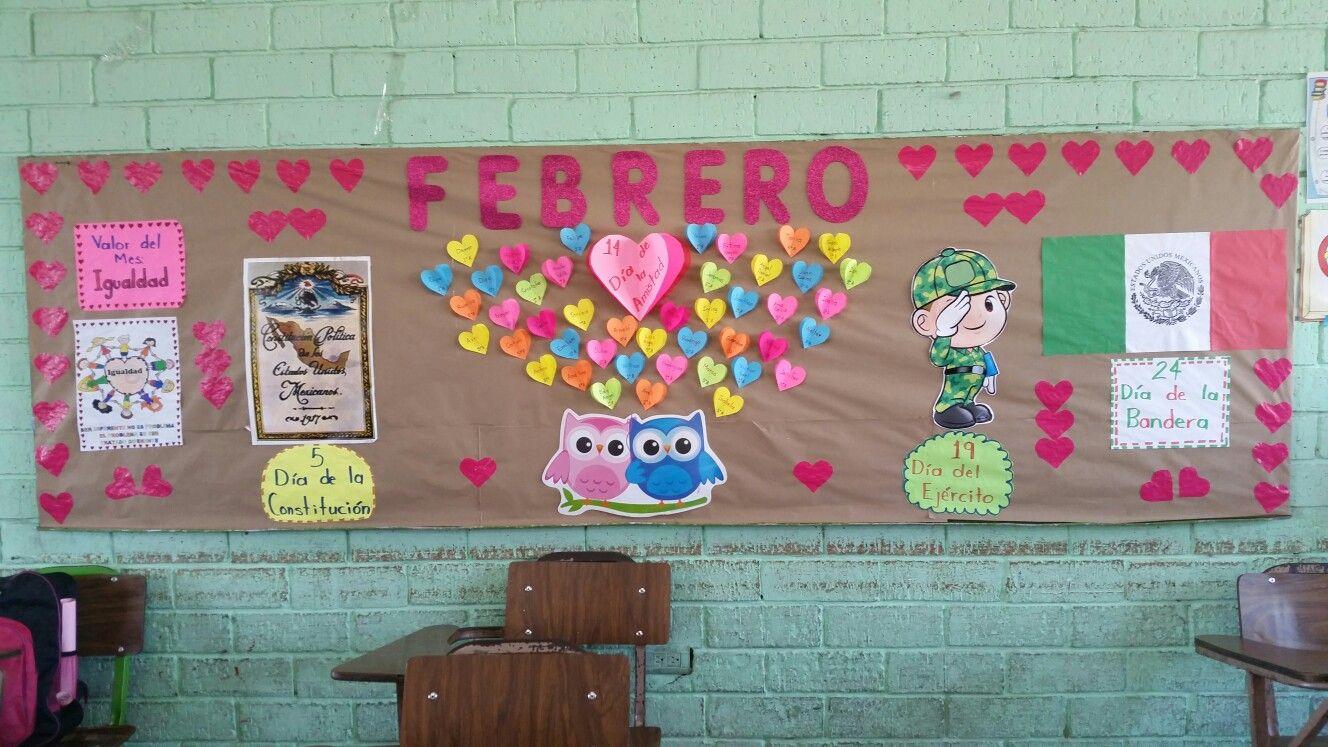 Periódico Mural de Febrero Manualidades