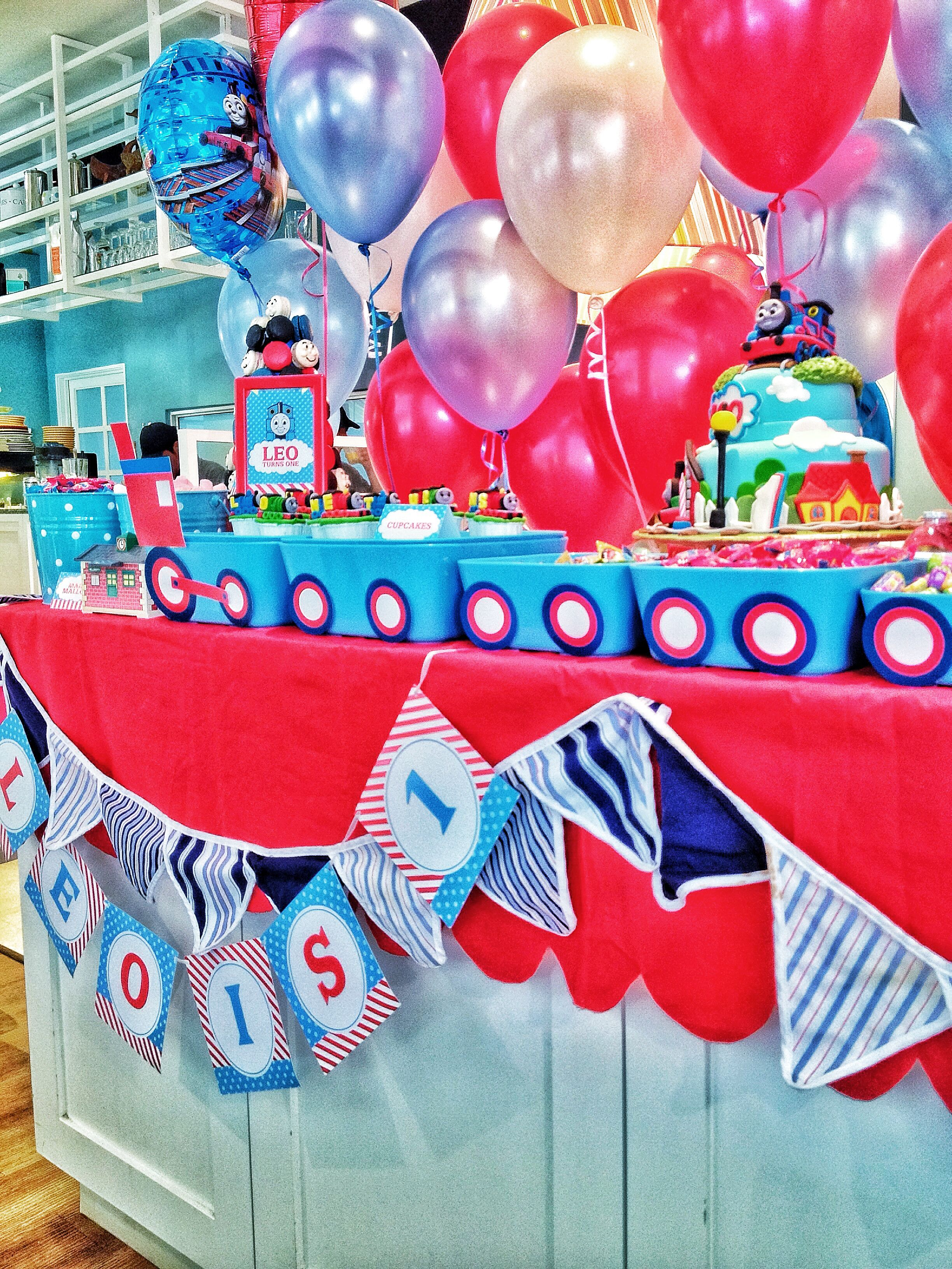 thomas the train theme party Dessert Table Candy Bar