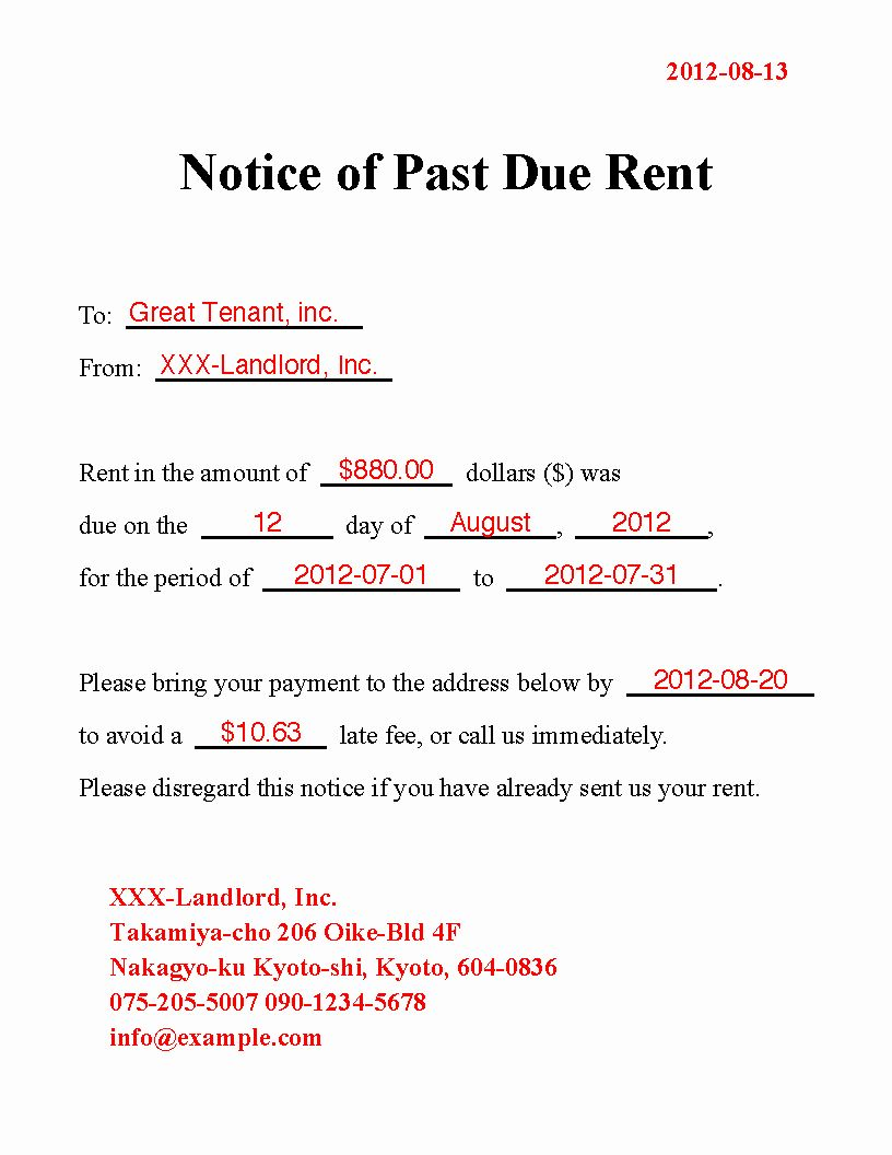 Past Due Rent Letter Sample from i.pinimg.com