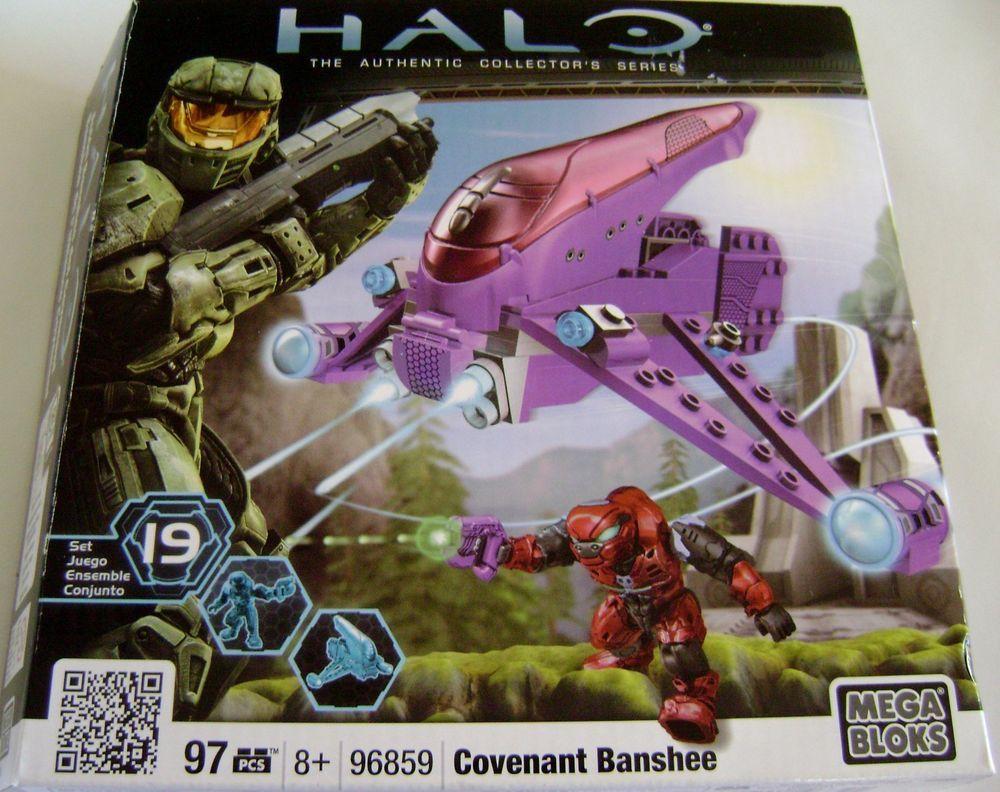 Halo Covenant Banshee Mega Bloks New 96859 Aerial Assault Craft Flyer Airplane #MegaBloks