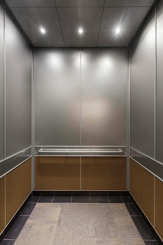Levele 105 Elevator Interior With Capture Panels In Vivichrome Chromis Glass With Taupe