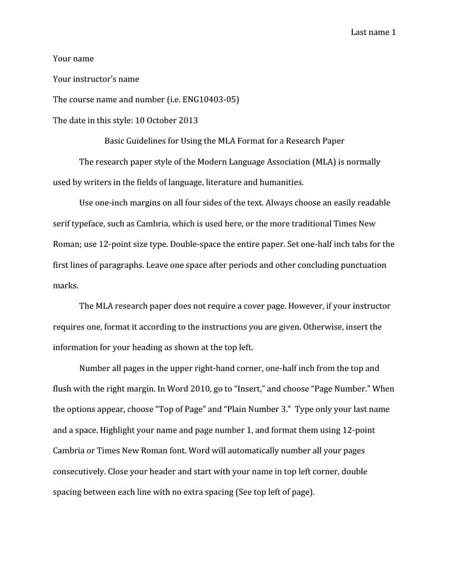 The Terrific 38 Free Mla Format Templates Mla Essay Format ᐅ