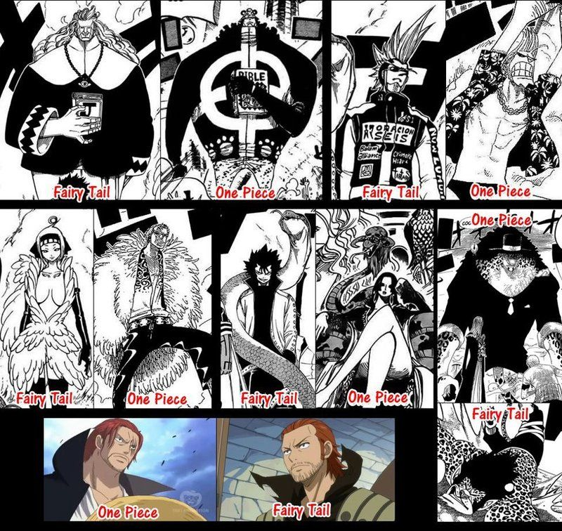 Shanks In Fairy Tail R Onepiece One Piece Fairy Tail Fairy Tail One Piece Manga