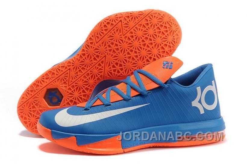 6a4aee651572 Nike Kevin Durant KD 6 VI Royal Blue Orange-White For Sale