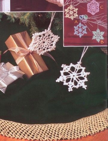 Yarnspirations.com - Patons Bells, Flakes, and Tree Skirt Edging - Patterns  | Yarnspirations