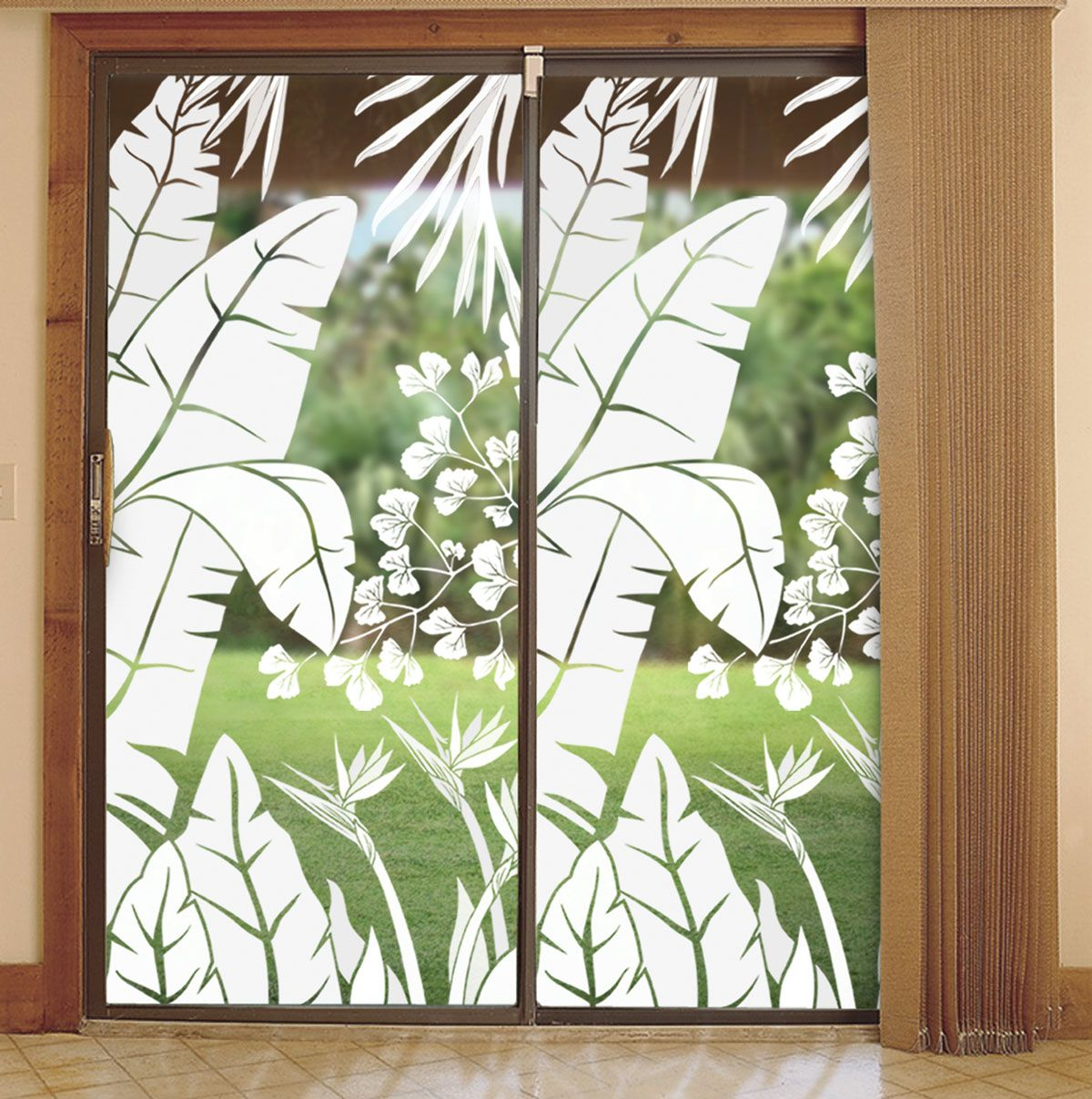 decorative glass window inserts. decorate sliding glass doors with the look of etched or stained Sliding Glass Doors Can Be Decorated  745 crafts hobbies
