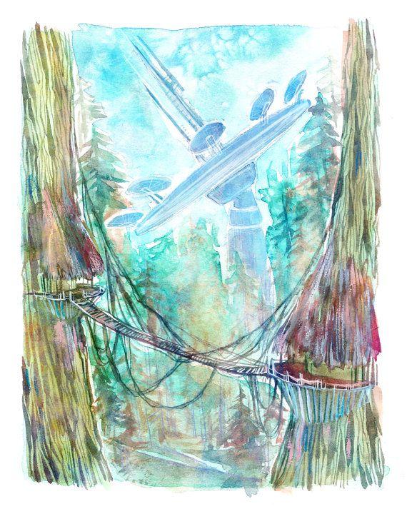 "Star Wars, Return of the Jedi 8"" x 10"" Colorful Watercolor Art Print  #StarWars #ReturnoftheJedi #LemonWatercolor #watercolor #illustration"