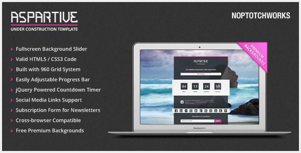 nice Aspartive - Fullscreen Under Construction Template Themes - construction form templates