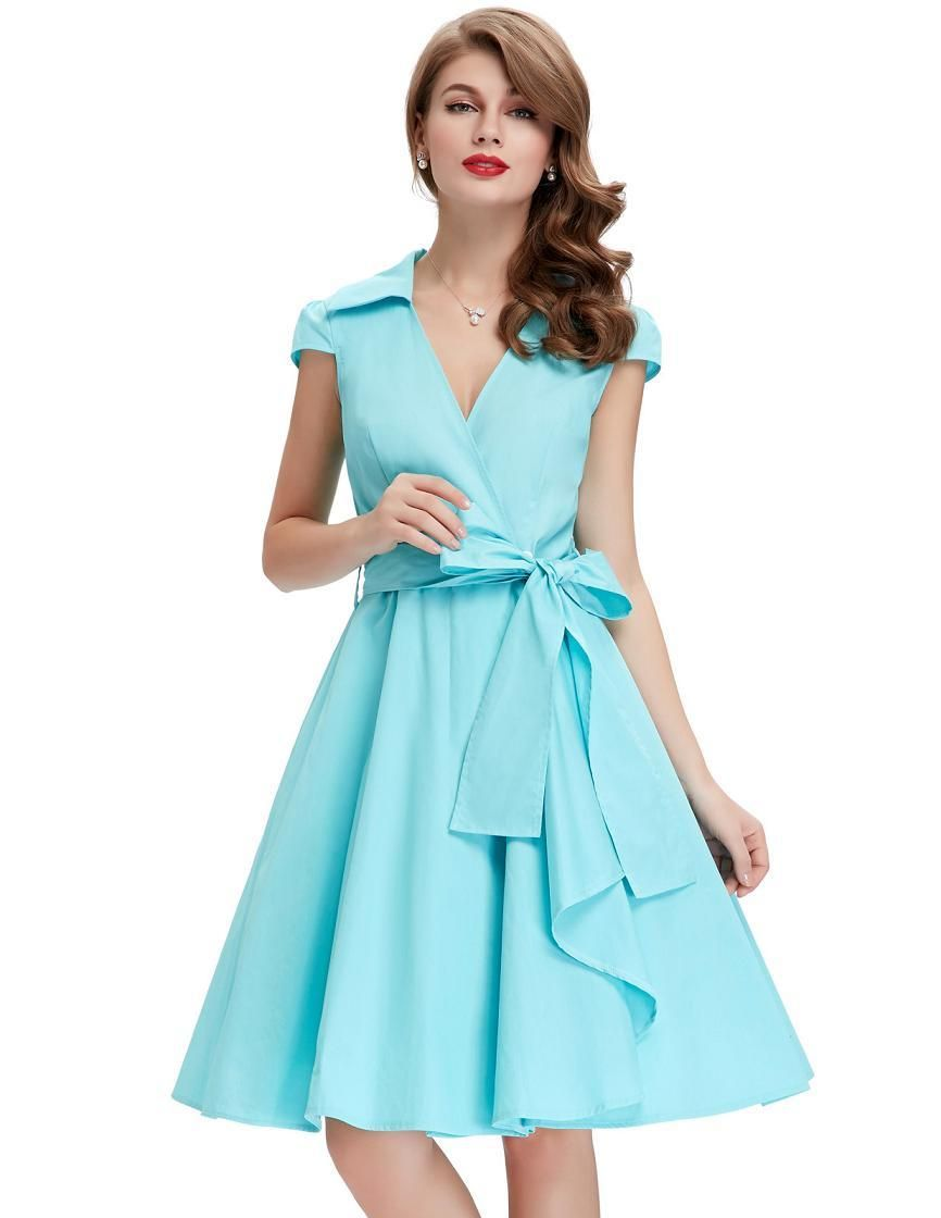 Vintage belted pinup swing rockabilly dress sxl products