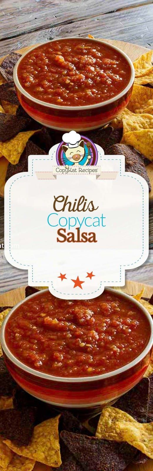 Copycat Chili's Salsa (Make in a blender) Enjoy Chilis Restaurant salsa? It's super easy to make it at home with this copycat recipe and video. Takes only 5 minutes to make in a blender. Canned tomatoes, chiles, onion, and a few more simple ingredients combine for maximum flavor.