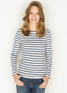 3191d5e87d5e T-shirt femme coton bio  esprit marinière