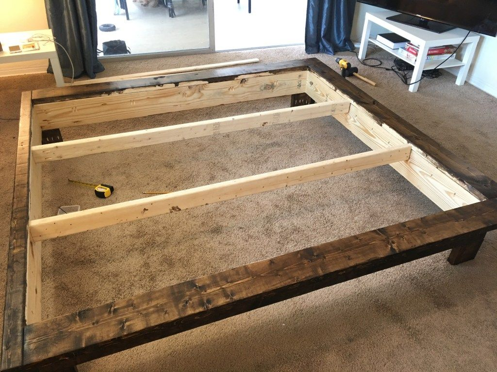 How To Build A Platform Bed With Legs For Less Than 120 In 2020
