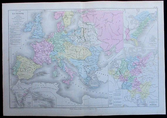 1887 Europe in the 1700\'s with possessions and territories in the ...