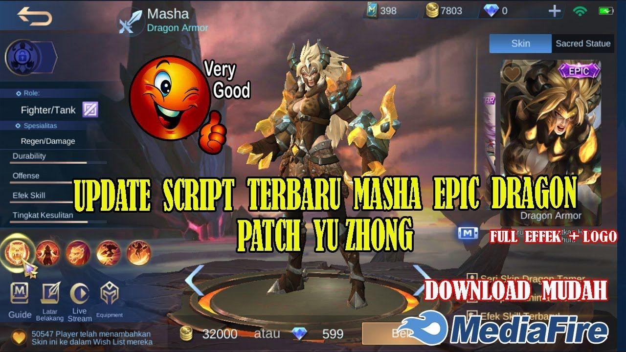 Update Script Skin Masha Epic Dragon Tamer Mobile Legends Full Effects Di 2020 Youtube Dragon Script Masha dragon armor, skin ke 3 dari squad dragon tamer yang akan hadir sore ini jam 15:00 di original server! pinterest