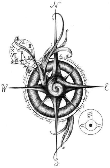 Tattoo compass drawing design deviantart 25+ ideas #drawing #tattoo #design