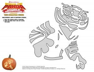 kung fu panda halloween pumpkin carving template tigress rh pinterest com