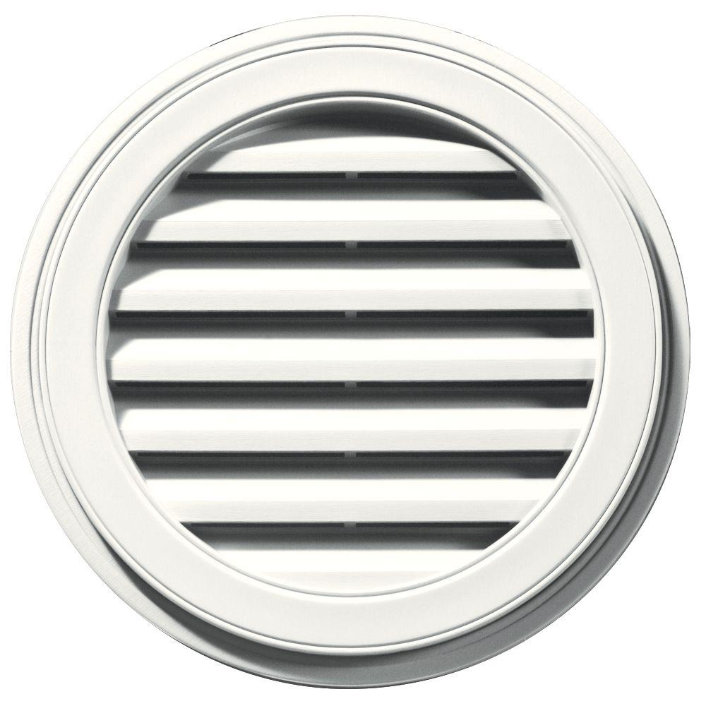 Builders Edge 22 In Round Gable Vent In White Gable Vents Brick Molding Louver Vent
