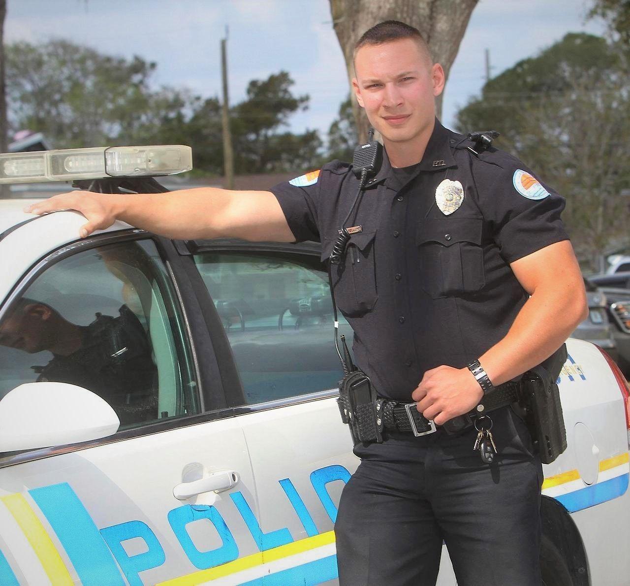 Blonde Female Cop On Her Knees Sucking Black Dick Outdoors