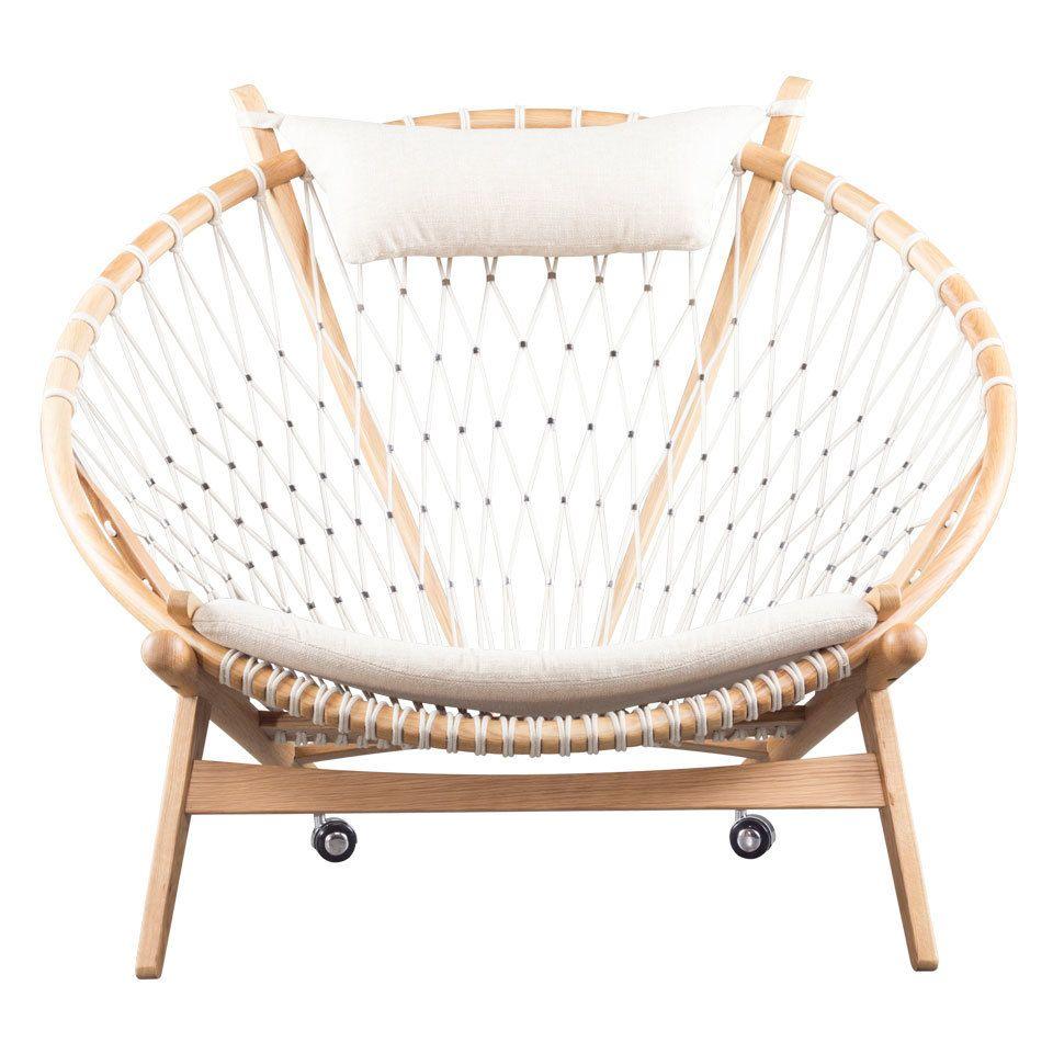 Cream Net Lounge Chair Chair Montana Furniture Living Room Chairs