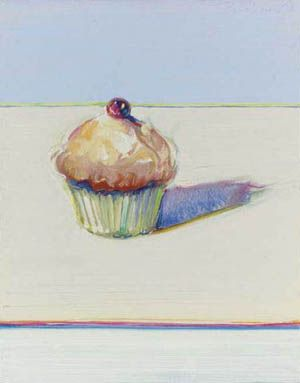 Image result for Pop artist Wayne Thiebaud cupcake