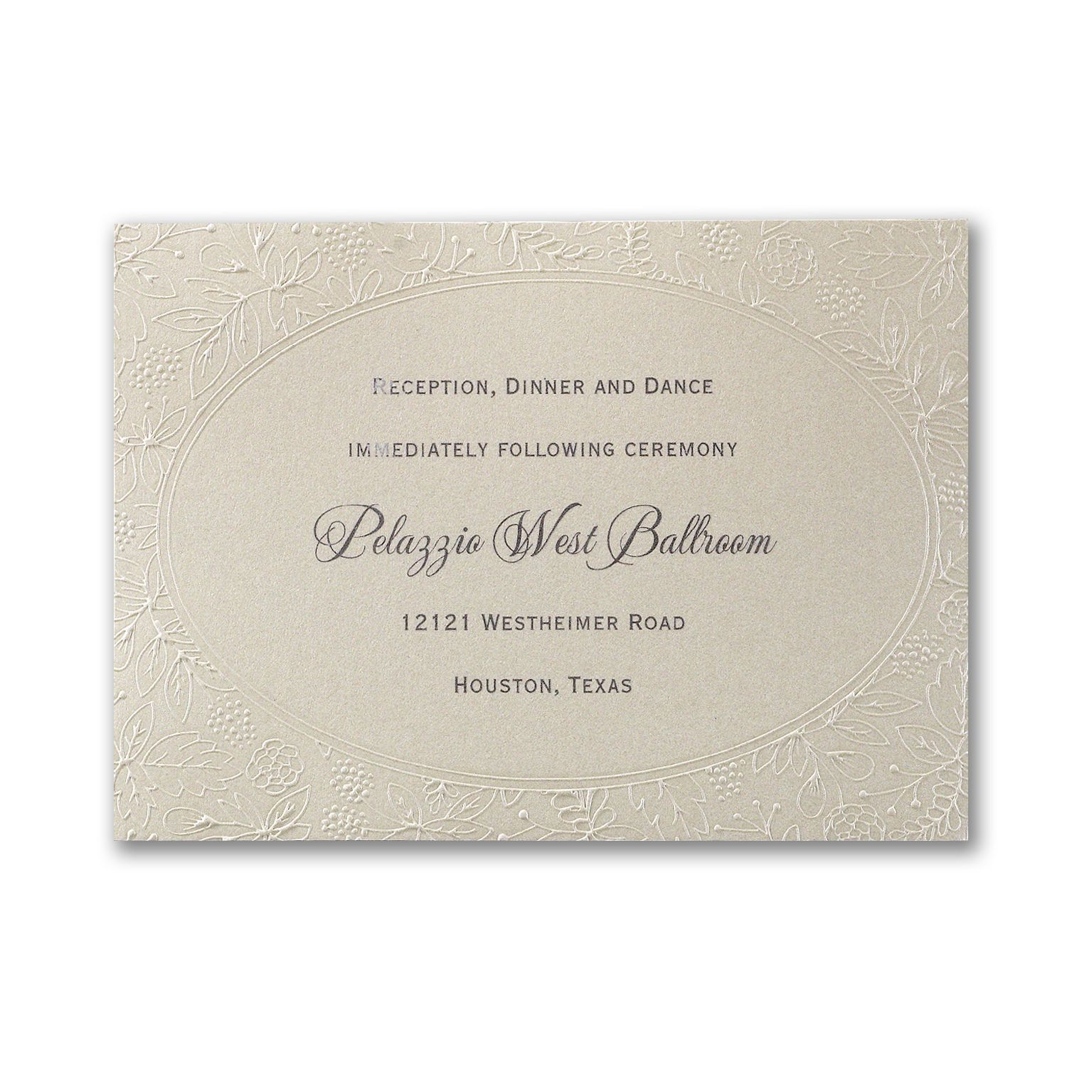 Luxury Wedding Cards Wedding Invitation B0036 Include: Natural Luxury - Reception Card (With Images)