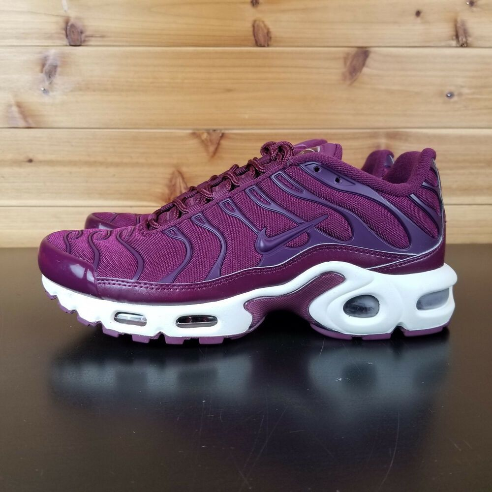 new style b3817 ba7fa Nike Air Max Plus Tuned TN Running Women Bordeaux Purple ...