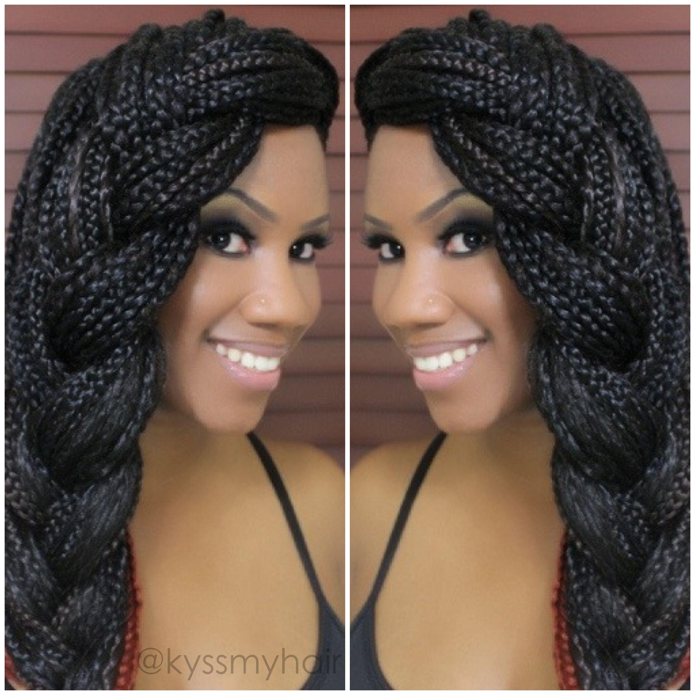 60 Totally Chic Box Braids Hairstyles Pinterest