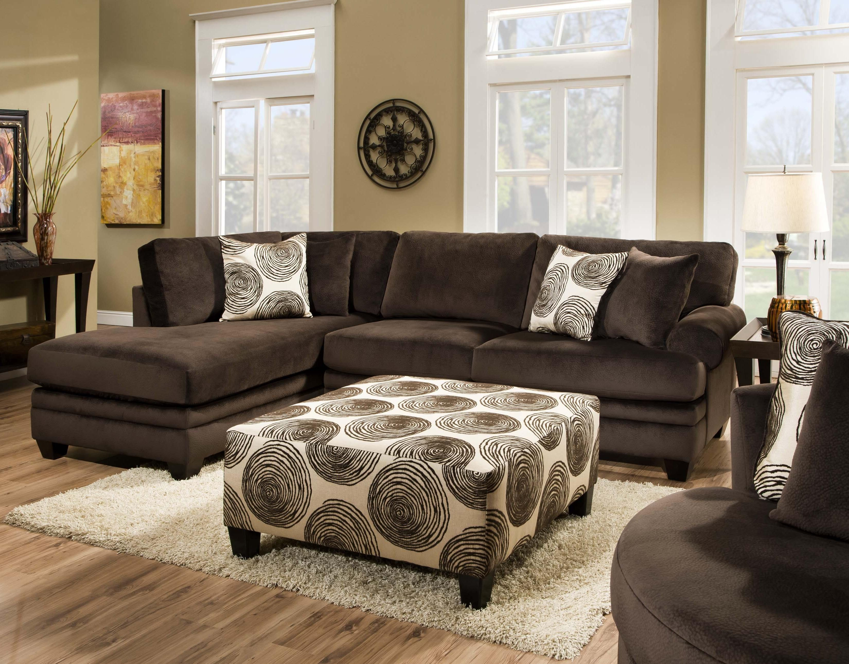 Albany 8642 Sectional LAF Chaise and RAF Sofa by Albany for
