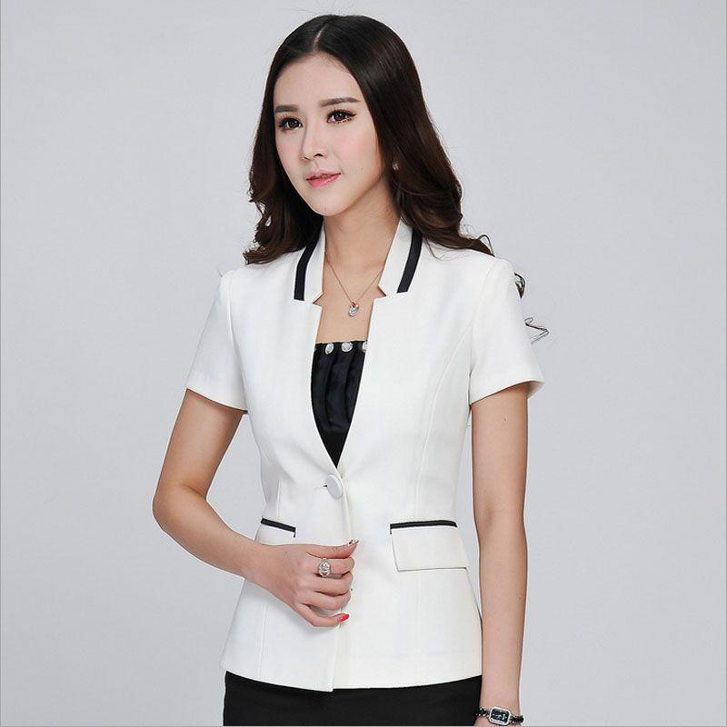 7d8c33dcc9e7 1pcs Women jackets blazers 2017Summer Fashion Cotton blended short sleeves Slim  Fit small Suit Jacket Skinny